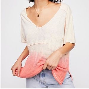 Free People FP We The Free Sun Dial Ombré Tee XS